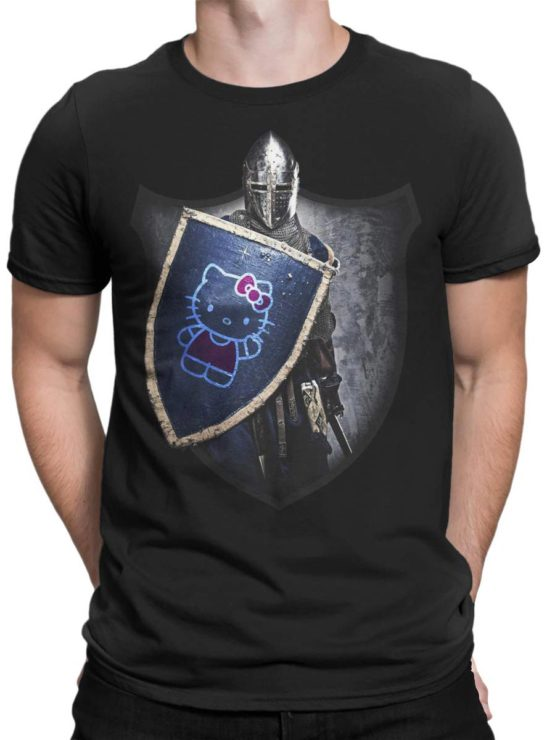 0029 Cat Shirts Knight Kitty Front Man