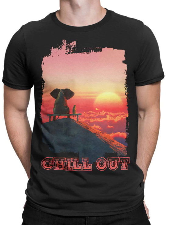 0046 Cute Shirt ChillOut Front Man