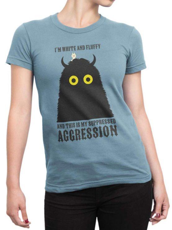 0179 Cute Shirt Fluffy Front Woman