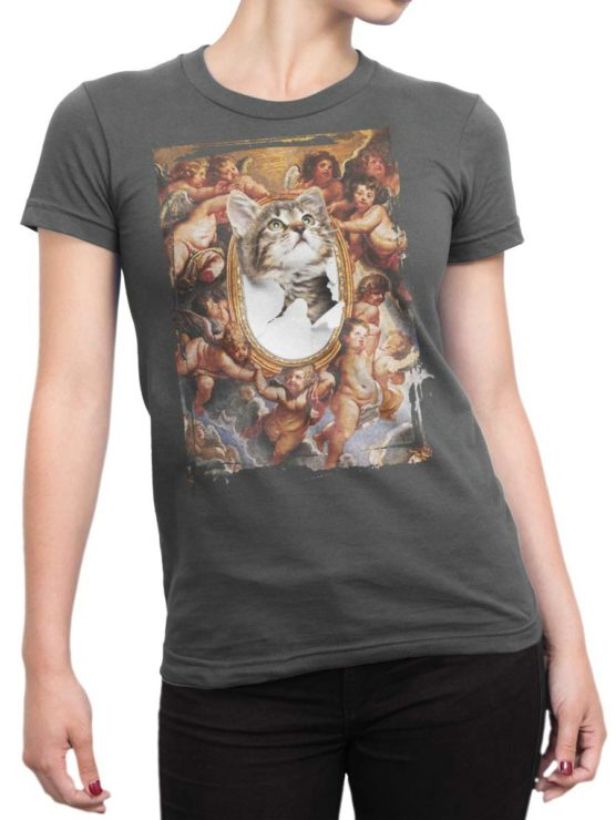 0219 Cat Shirts St.Kitty Front Woman