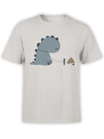 0229 Cute Shirt Poop Front Silver