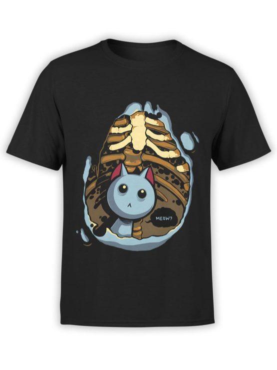 0289 Cat Shirts Kitten Inside Front Black