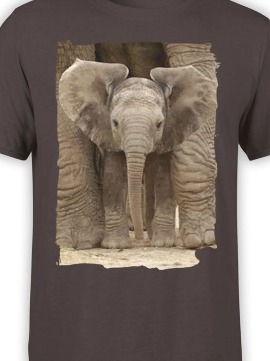 0336 Cute Shirt Baby Elephant Front Color