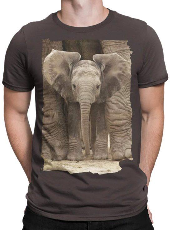0336 Cute Shirt Baby Elephant Front Man