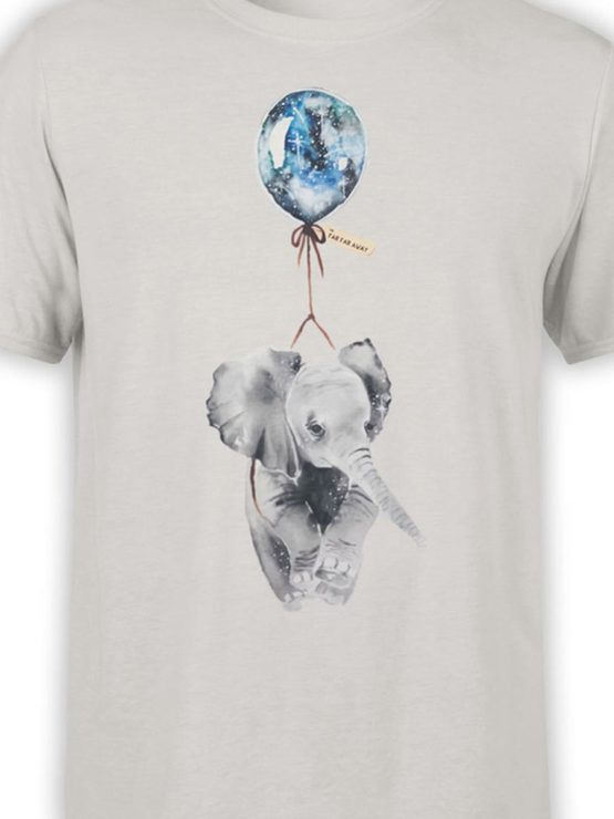 0346 Cute Shirt Baby Flying Elephant Front Color