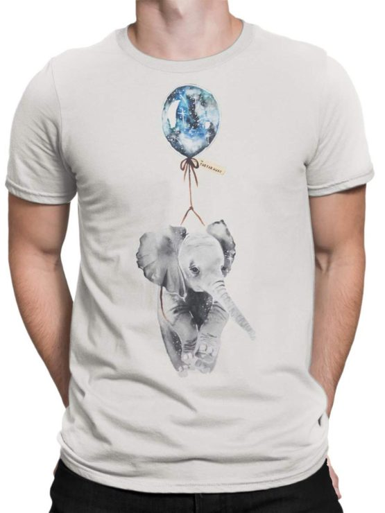 0346 Cute Shirt Baby Flying Elephant Front Man