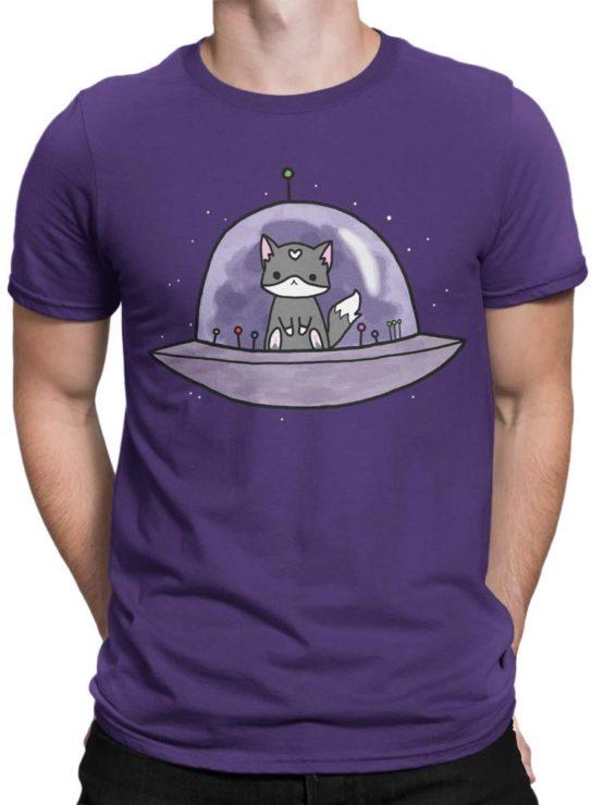 0387 Cat Shirts UFO Front Man