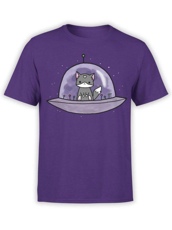 0387 Cat Shirts UFO Front Team Purple