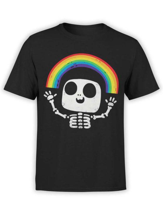 0429 Cute Shirt Death Rainbow Front
