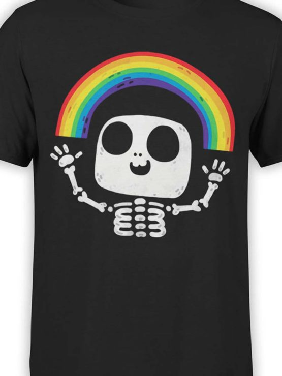 0429 Cute Shirt Death Rainbow Front Color