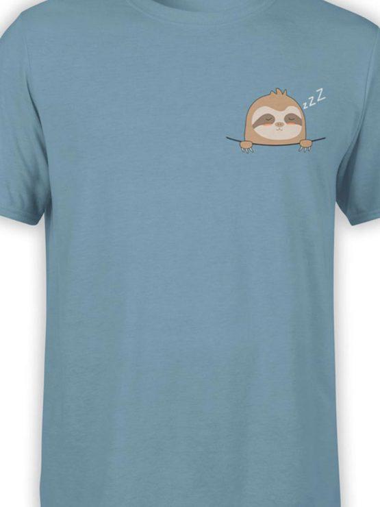 0444 Cute Shirt Pocket Sloth Front Color 1