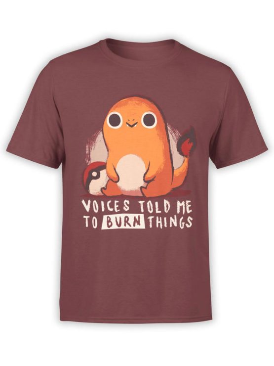0451 Cute Shirt Voices Front Maroon