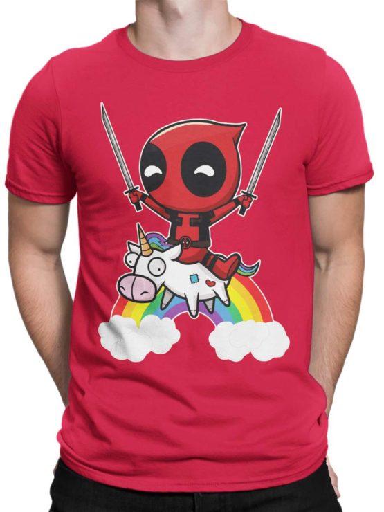 0478 Unicorn Shirt Deadpool Front Man