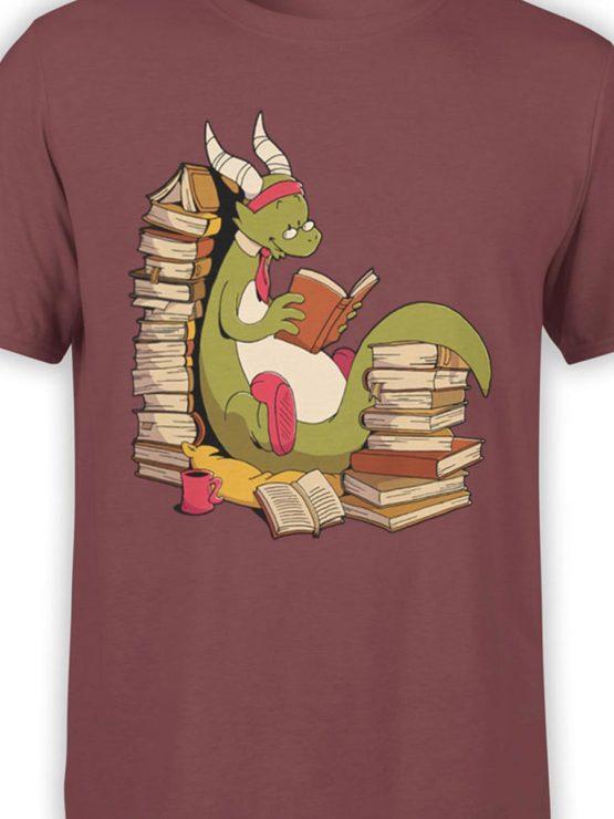 0560 Cute Shirt Book Wyrm Front Color