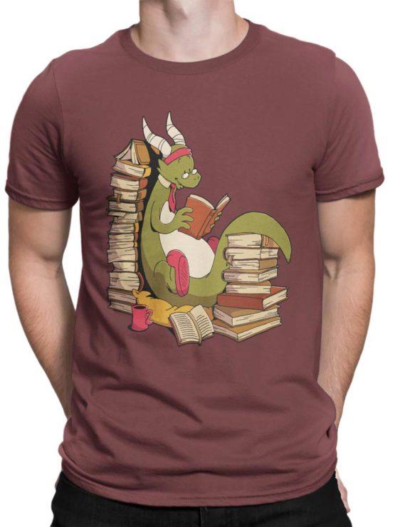 0560 Cute Shirt Book Wyrm Front Man