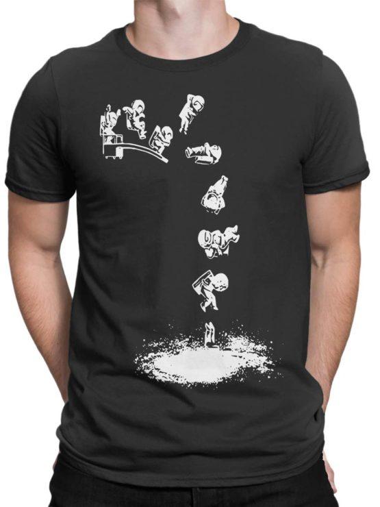 0563 NASA Shirt Galaxy Jump Front Man