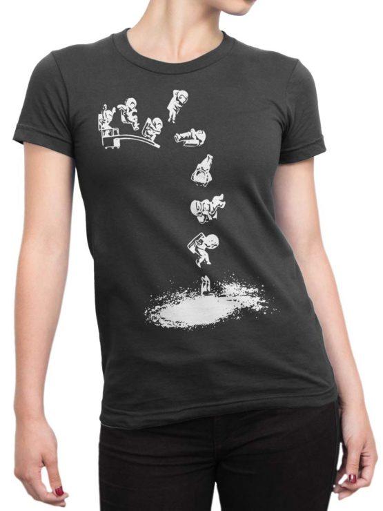 0563 NASA Shirt Galaxy Jump Front Woman