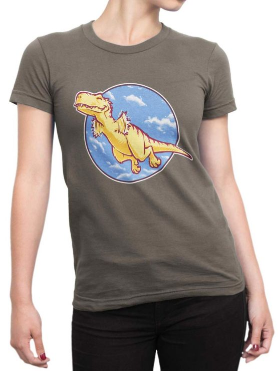 0564 Cute Shirt Can Fly Front Woman