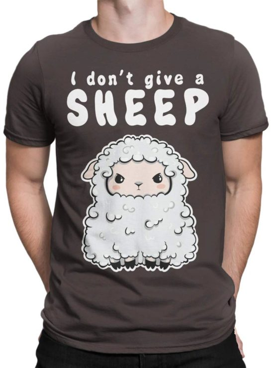0570 Cute Shirt Give a Sheep Front Man