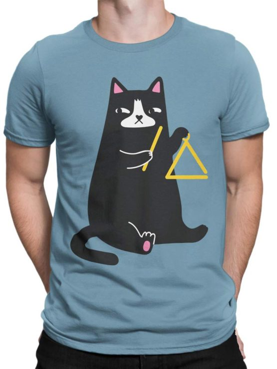 0588 Cat Shirts Triangle Front Man