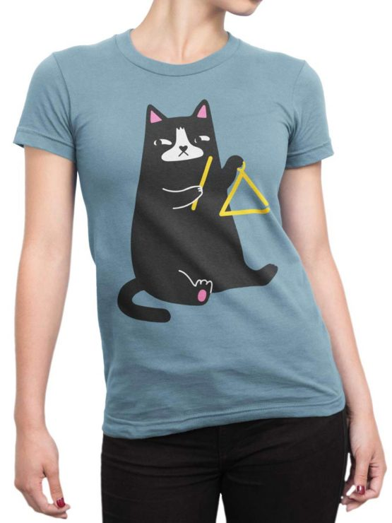 0588 Cat Shirts Triangle Front Woman