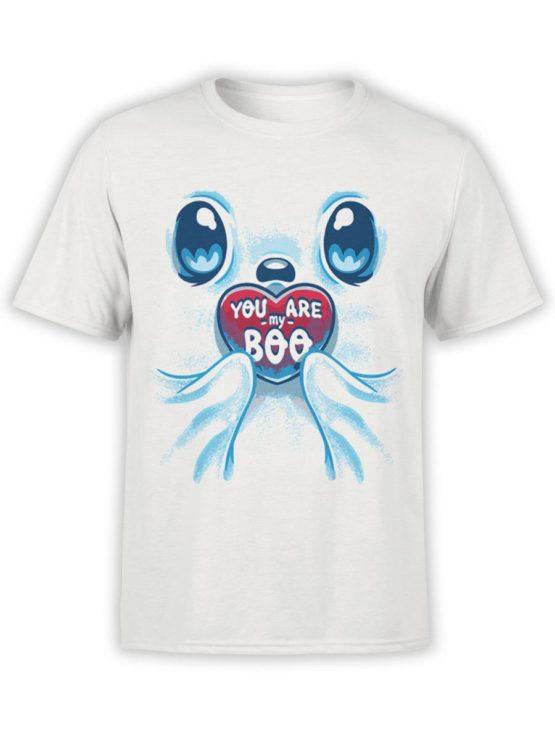 0592 Cute Shirt My BOO Front Ash