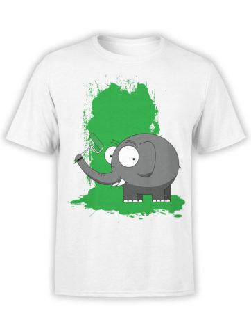 0611 Elephant Shirt Paint Front