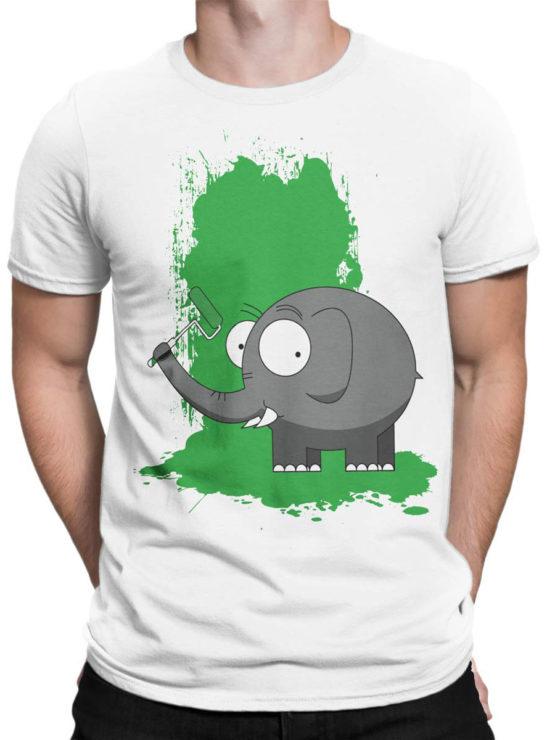 0611 Elephant Shirt Paint Front Man