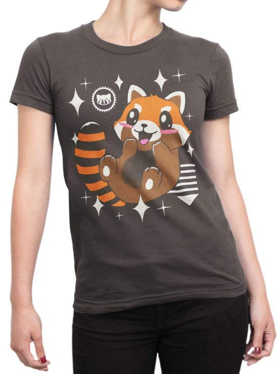 0613 Panda Shirt Kawaii Red Panda Front Woman