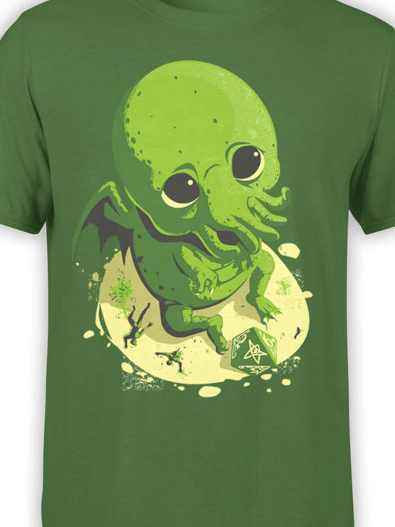 0618 Cthulhu Shirt Wants to Play Front Color