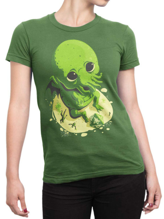 0618 Cthulhu Shirt Wants to Play Front Woman
