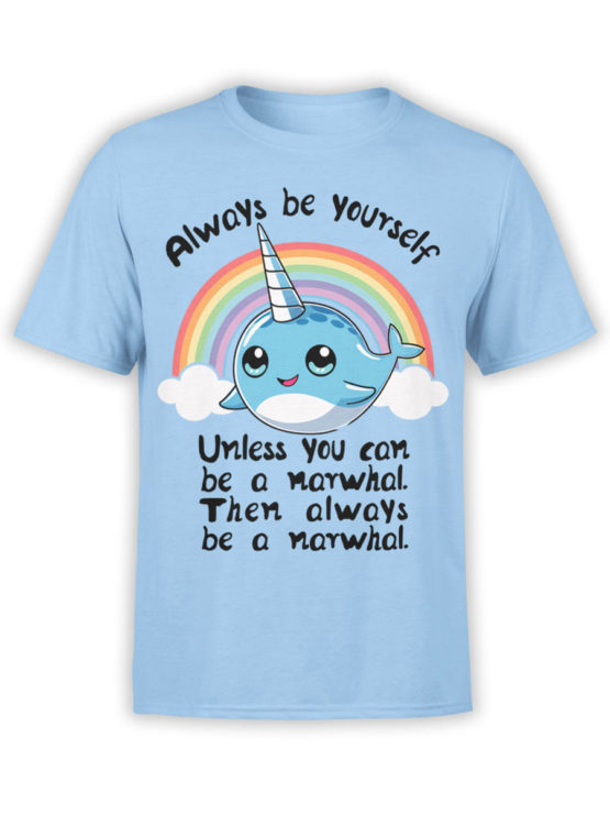 0644 Unicorn Shirt Be Narwhal Front