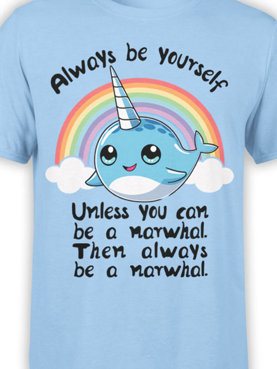 0644 Unicorn Shirt Be Narwhal Front Color