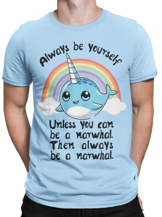 0644 Unicorn Shirt Be Narwhal Front Man