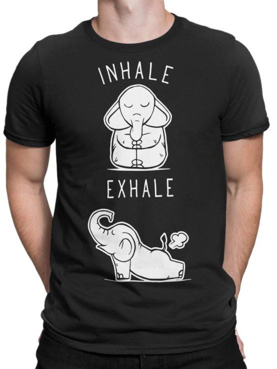 0659 Elephant Shirt Elephant Yoga Front Man