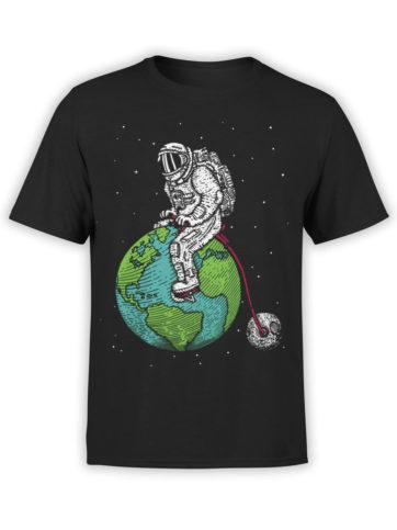 0660 NASA Shirt Astronaut Bicycle Front