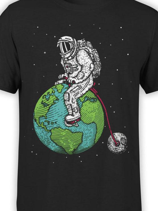 0660 NASA Shirt Astronaut Bicycle Front Color