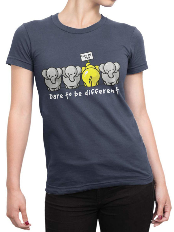0679 Elephant Shirt Be Different Front Woman