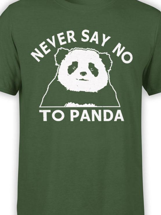 0682 Panda Shirt Never Say No Front Color