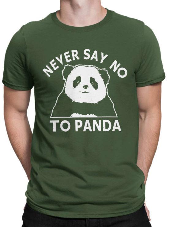 0682 Panda Shirt Never Say No Front Man