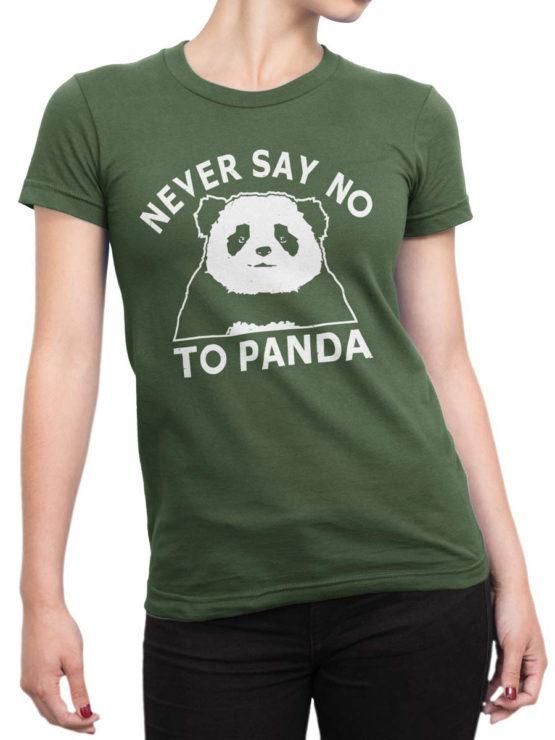 0682 Panda Shirt Never Say No Front Woman