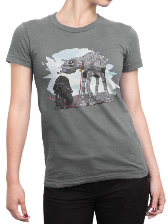 0691 Star Wars T Shirt Cute Vader Front Woman