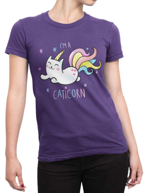 0703 Unicorn Shirt Caticorn Front Woman