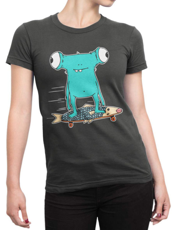 0716 Monster Shirt Fishboard Front Woman