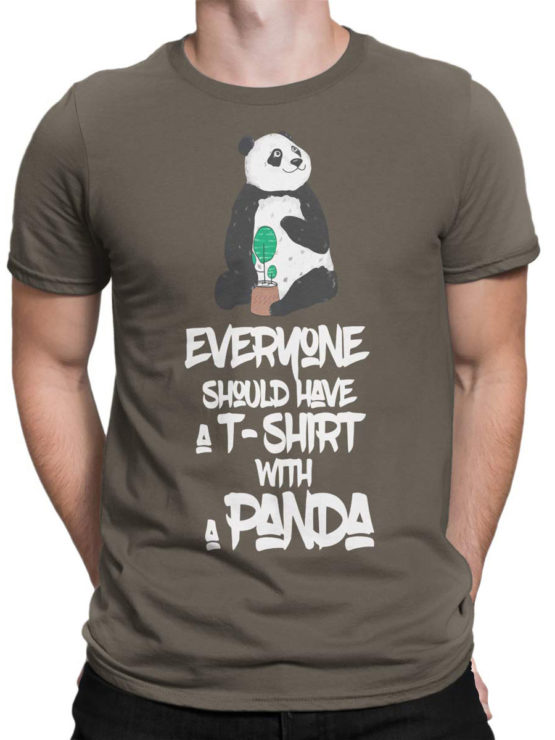 0717 Panda Shirt Should Front Man