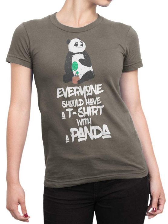0717 Panda Shirt Should Front Woman