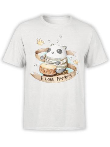 0888 Panda Shirt Love Pandas Front