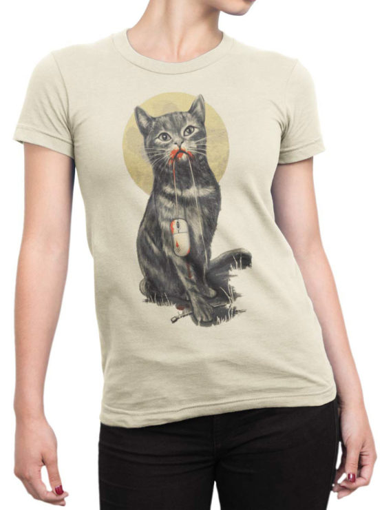 0922 Cat T Shirt My Mouse Front Woman