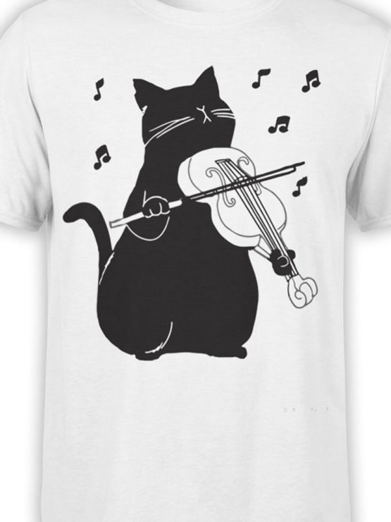 0951 Cool T Shirt Meowsic Front Color
