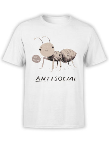 0969 Funny Shirts ANTisocial Front